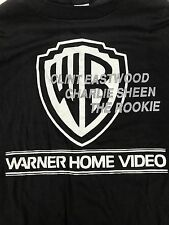 VTG The Rookie Promo XL T Shirt 90s Movie Black Charlie Sheen Clint Eastwood