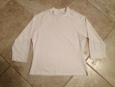"""Ellemenno Top White Long Sleeve Large RN 48557 USA 36"""" chest"""