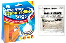 2x sachet SMALL SPACE Dehumidifier Bags Helps Stop Damp, Mould and Mildew