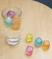Kikkerland Set Of 30 Reusable & Freezable Ice Cubes Multicolour Plastic Useful