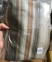 Pottery Barn Franco Stripe Lumbar Pillow Cover Neutral 20x30L Neutral New