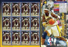 MODERN GEMS - Sierra Leone - Jermaine O'Neal Indiana Pacers - Sheet of 12 - MNH