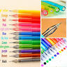12Pc set Candy Color Diamond Gel Pen refill School Supplies Draw Colored Student