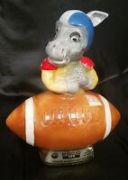 "Vintage 1972 Jim Beam Democrat ""Donkey"" Football Decanter"