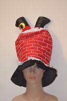 bonnet de noel cheminée fete,deguisement ,noel