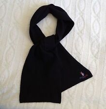 """90s FCUK French Connection BLACK SCARF peace sign stretch knit 60"""" long"""