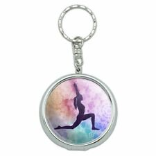 High Lunge Crescent Variation Yoga Pose Portable Travel Ashtray Keychain