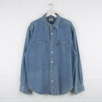 Vintage LEVI'S Blue Denim Shirt Size Mens Large