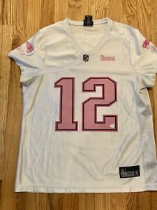 Women's Limited Edition Tom Brady Patriots Mesh Pink Jersey Reebok NFL #12 Large