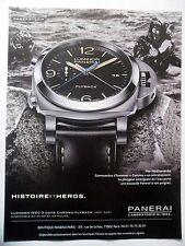 PUBLICITE-ADVERTISING :  PANERAI Luminor 1950 3 Days Flyback  2014 Montres