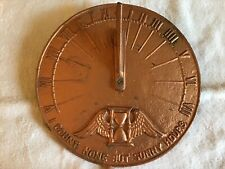 Wow! Vintage I Count None But Sunny Sundial Fence Yard Art Deco Garden Metal