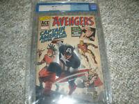 Avengers #4 Comic Book - Captain America Lives Again - CGC 9.6