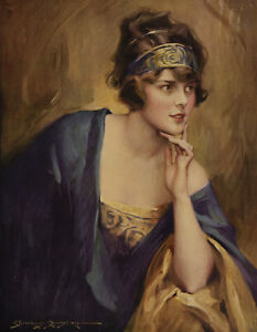 1924 C. Bosseron Chambers Vintage Gerloch-Barklow Co. Calendar Girl Of My Dreams