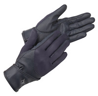 Lemieux Pro-Touch Mesh Riding Gloves - Navy Blue