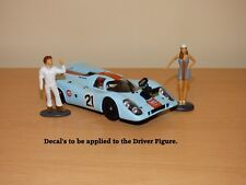 """MAKING OF LEMANS"" FLY PORSCHE 917K with STEVE McQUEEN & GULF GIRL Figure 1/32"