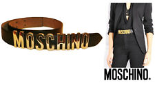 MOSCHINO ~ REDWALL Iconic Black Leather Belt  ~ AUTHENTIC