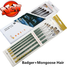BadgerMongoose Hair Quality Art Brush Paint on Oil Acrylic Watercolor Gouache