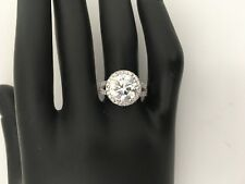 3.50 CT ROUND CUT  NATURAL DIAMOND SOLITAIRE ENGAGEMENT RING 14K WHITE GOLD SALE