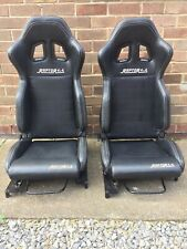 Raptor 4x4 Sports Seat Sky Black Faux Leather Off Road Bucket Seat Interior