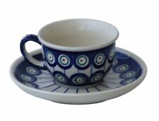 Bunzlauer Keramik Espressotasse mit Untertasse 0.11 Liter Dekor 8 Mokkatasse