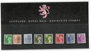 GB 1987 Scotland Regional Definitives Presentation Pack No. 10 VGC stamps