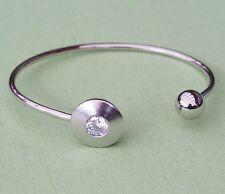 Neu ARMREIF mit STRASSSTEINE kristallklar ARMREIFEN silber ARMSPANGE Armband