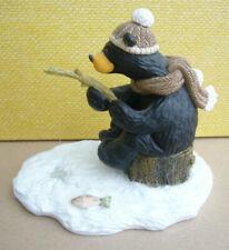 "Le Bearfoots Bears Jeff Fleming Big Sky Carvers ""Al"" #101/4705 Bear Ice Fishing"