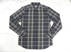 Nixon Men La Paz Dark Gray Casual Shirts Long Sleeve Medium S2389