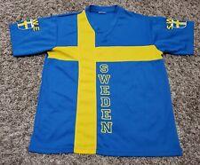 Team Sweden Sverige Svff Football Soccer Jersey Blue Yellow Nordic Souvenir