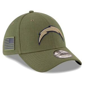 Last One! BNWT! LA Chargers 2018 Salute To Service Sideline 39THIRTY Cap RARE!