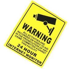 1PC CCTV Surveillance Security Camera Warning Decal Signs Sticker 25*20cm