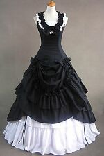 Black Sleeveless Cotton Bow Lolita Christmas Fancy Dress Cosplay Party Costume