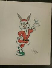 Original art, Virgil Ross Pencil drawing: Santa Bugs Bunny