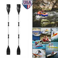 1 Pair Aluminum Alloy Detachable Afloat Kayak Oars Paddles Boat Rafting Canoe US