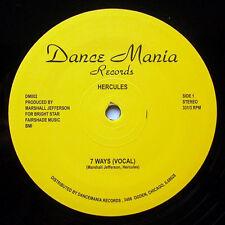 "Hercules – 7 Ways SEALED Dance Mania DM002 VINYL 12"" HOUSE/GHETTO"