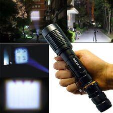 10000 Lumen Zoom Xml T6 Led 18650 Flashlight Adjustable Focus Torch Lamp #Rp