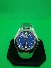 mens adidas chrome bracelet watch with a blue dial,luminous hands,10atm,#bm.