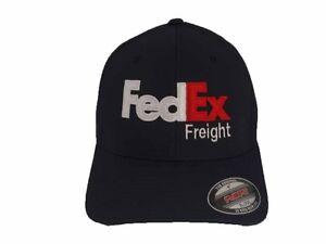 FedEx Freight Hat Flexfit Wool Blend 6477 Ball Cap Yupoong Dark Navy S/M