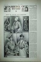 1904 Moda Estampado Artículo Utilise Oferta Blusa Taffetas Terciopelo Cintas