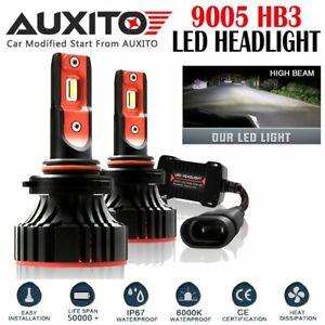 2X FANLESS 9005 HB3 LED Headlight Kit High Beam White Bulb 6000K 12000LM A8 72W