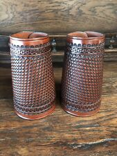 Western Americana Sass Cowboy Action Leather Roping Cuffs, #210, Usa