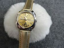 Terner Quartz Ladies Watch - Gold Colored Dial and Band