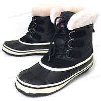Women's Duck Boots Insulated Waterproof Shearling Hiking Winter Warm Snow Shoes