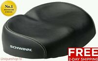 SCHWINN COMFORTABLE ERGONOMIC SOFT WIDE LARGE NO PRESSURE BICYCLE BIKE SEAT NEW