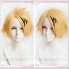 My Boku no Hero Academia Kaminari Denki Wigs Cosplay Costume Wig + Hair Clip UK