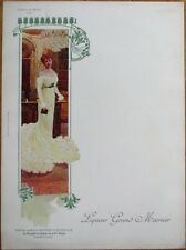 Grand Marnier 1910 Art Nouveau French Advertising Menu - Comtesse de Martel