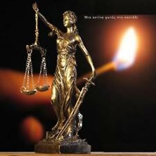 Greek Goddess Themis Statue Bronze Finish Figurine Blind Lady Justice Sculpture