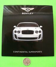 2009 (?) BENTLEY CONTINENTAL SUPERSPORTS PRESS KIT - CD OF PHOTOS Near-Mint