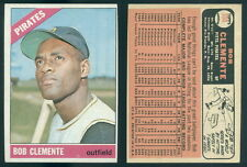 (41614) 1966 Topps 300 Roberto Clemente Pirates-EX