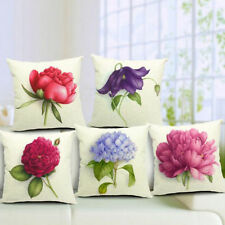 Linen Blend Floral Decorative Cushions & Pillows